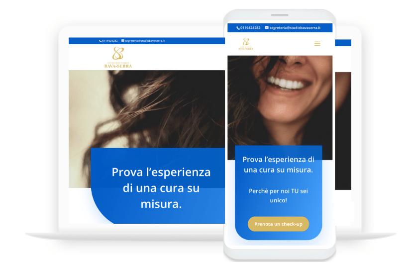 Ettore Obert - Sito Web Studio Dentistico Bava & Serra Ristrutturazioni