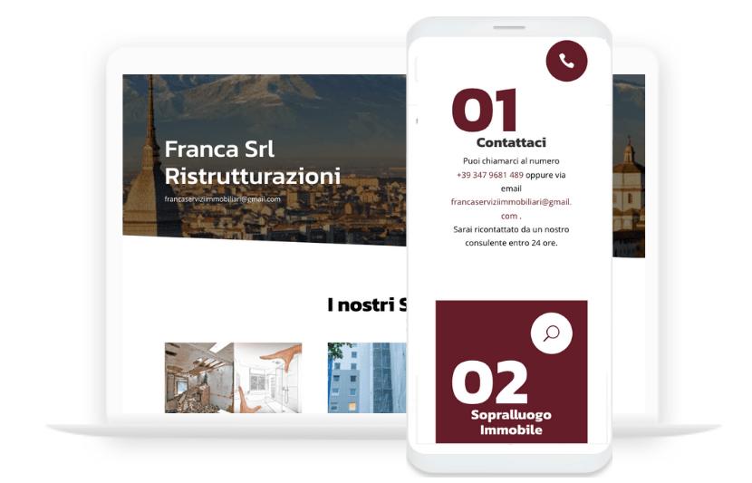 Ettore Obert - Sito Web Franca Ristrutturazioni